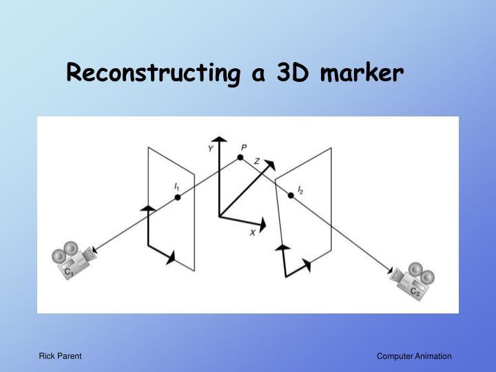 Reconstructing a 3D marker