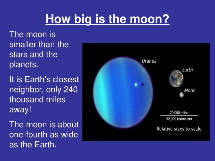 How big is the moon?