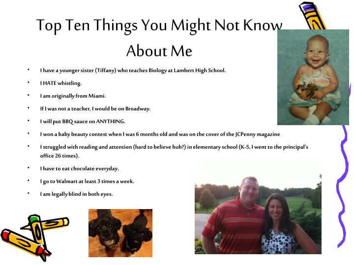 Top Ten Things You Might Not Know About Me