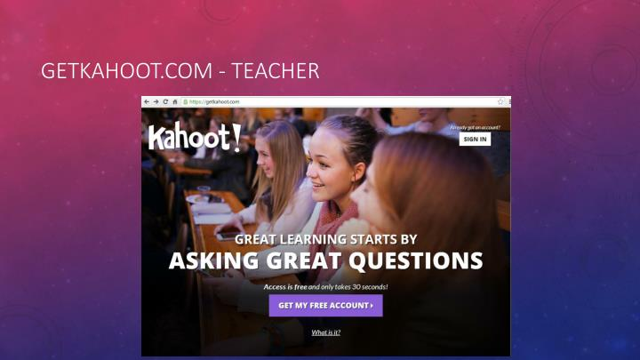 Getkahoot com teacher