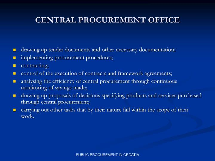 CENTRAL PROCUREMENT OFFICE