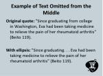 example of text omitted from the middle