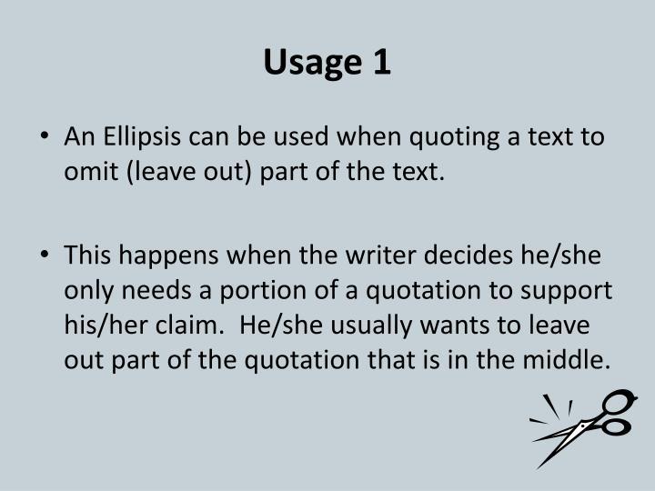 Usage 1