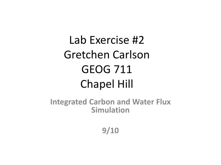 Lab Exercise #2
