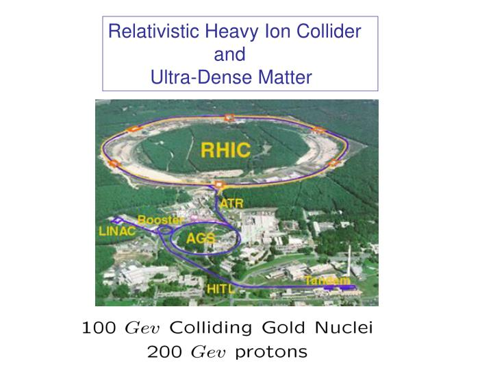 Relativistic Heavy Ion Collider
