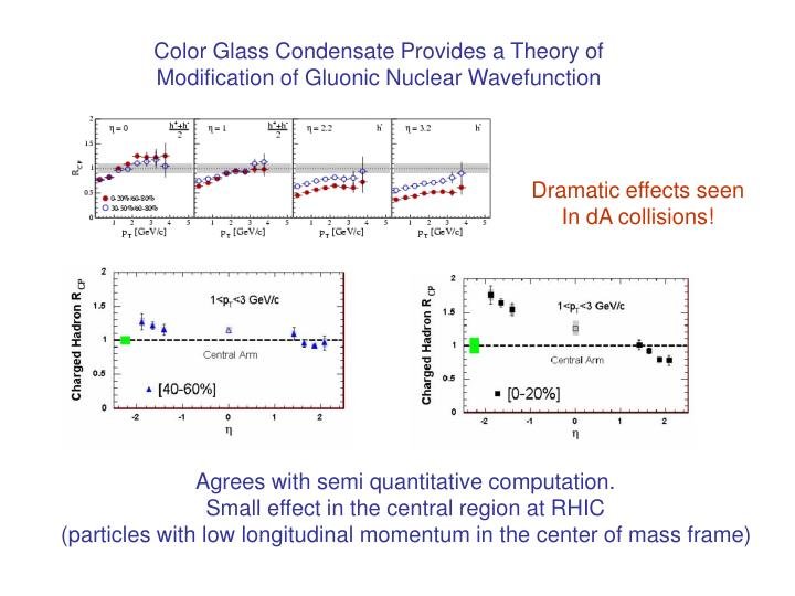 Color Glass Condensate Provides a Theory of