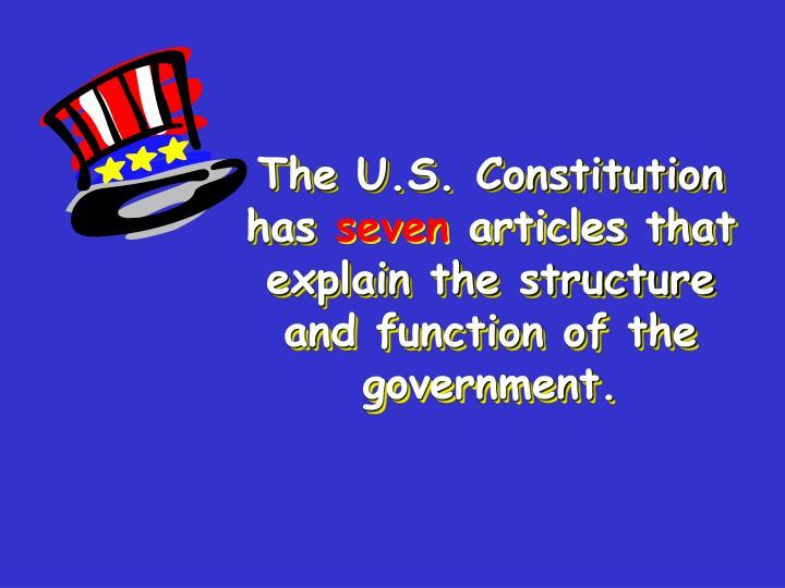 The U.S. Constitution has