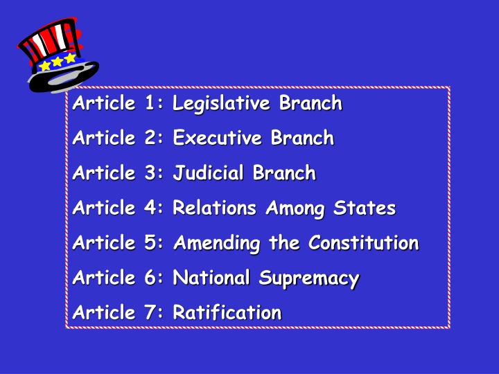 Article 1: Legislative Branch