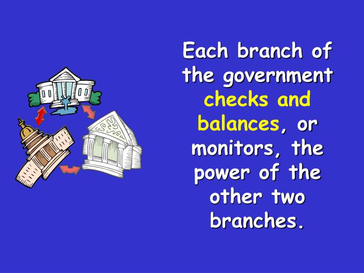 Each branch of the government