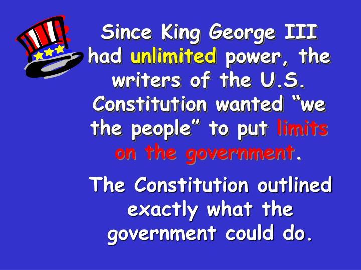 Since King George III had