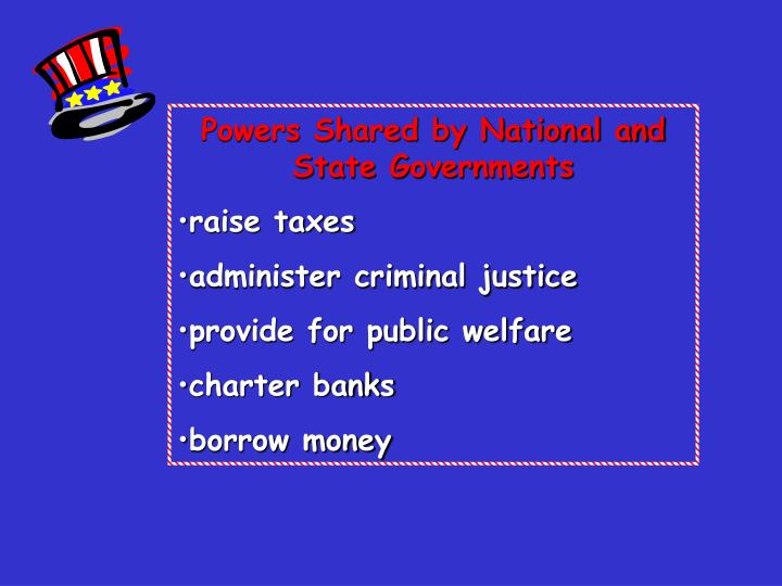 Powers Shared by National and State Governments