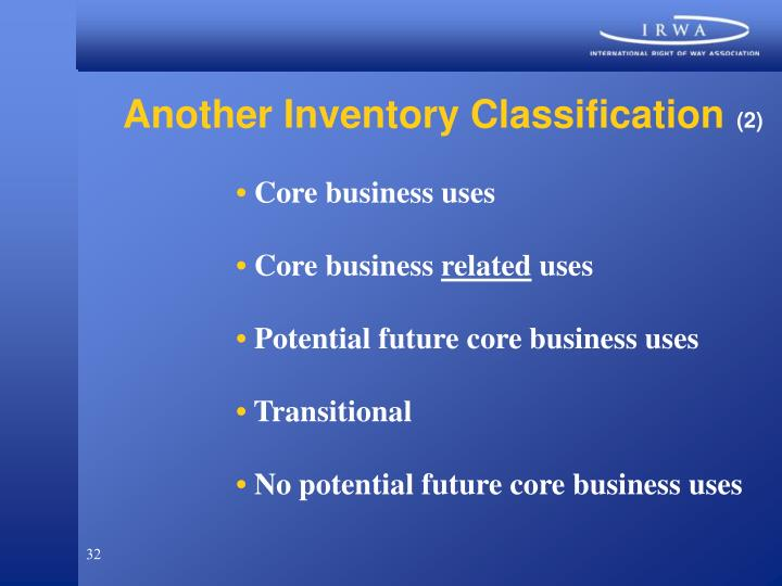Another Inventory Classification
