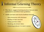 informal learning theory