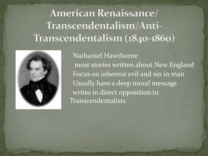 the major aspects of transcendentalism Posts about transcendentalism written by hans independent ethos  photography, things that are major aspects of the cinema, are still not unique to it,.