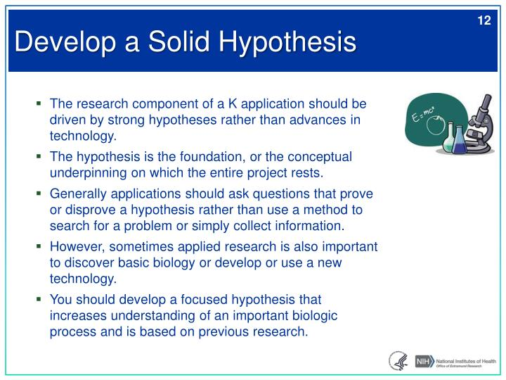 Develop a Solid Hypothesis