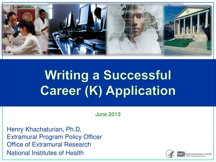 Writing a successful career k application