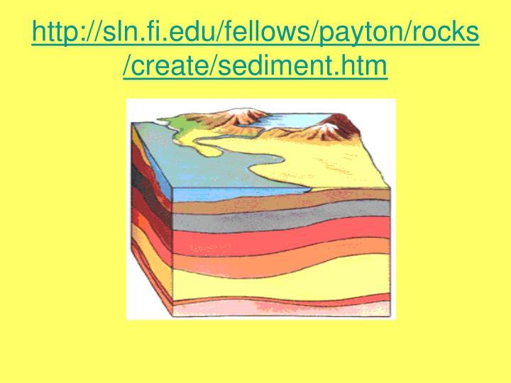 http://sln.fi.edu/fellows/payton/rocks/create/sediment.htm