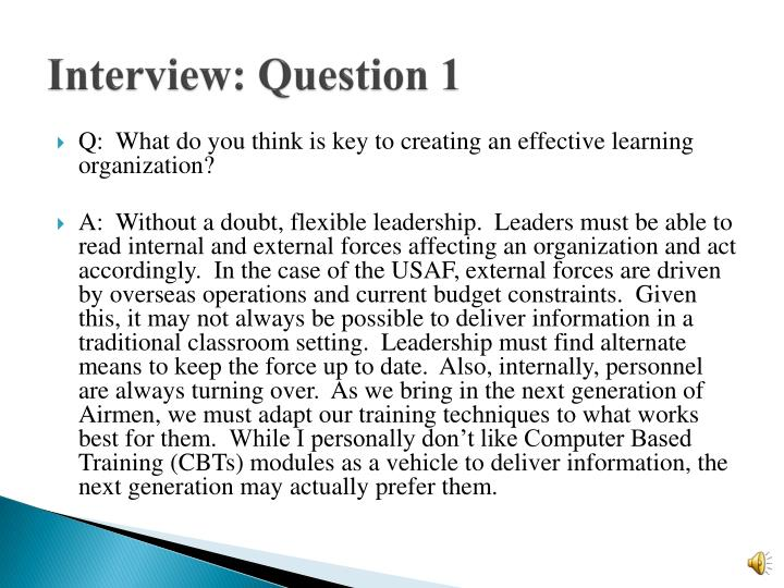 Interview: Question 1