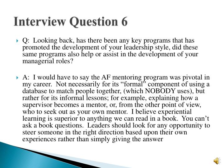 Interview Question 6