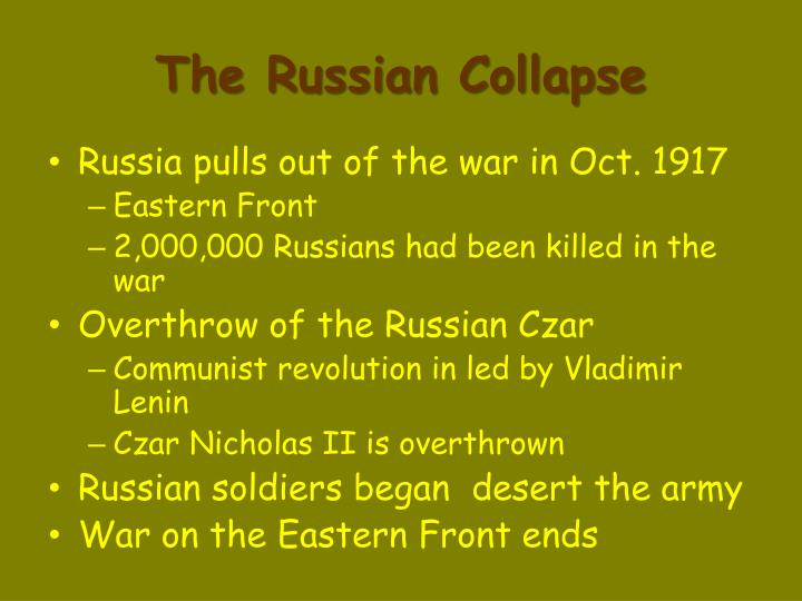 The Russian Collapse