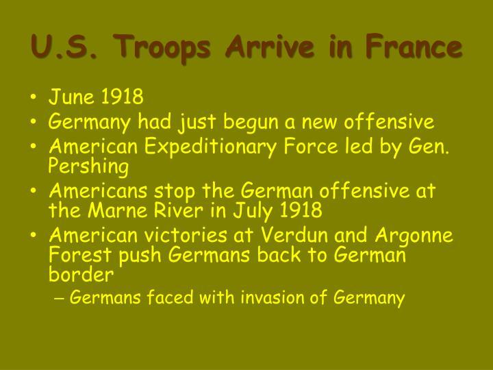 U.S. Troops Arrive in France