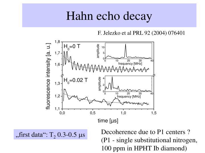 Hahn echo decay