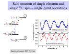 rabi nutation of single electron and single 13 c spin single qubit operations