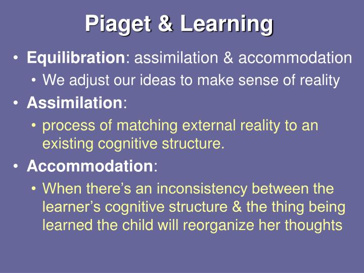 Piaget & Learning