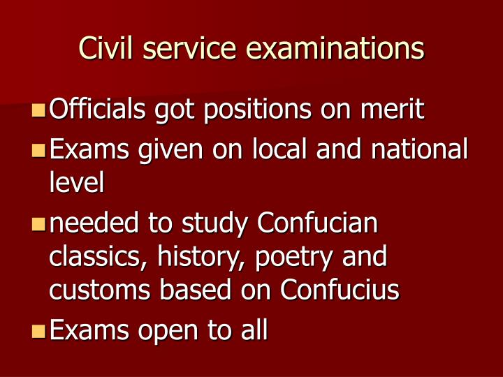 Civil service examinations