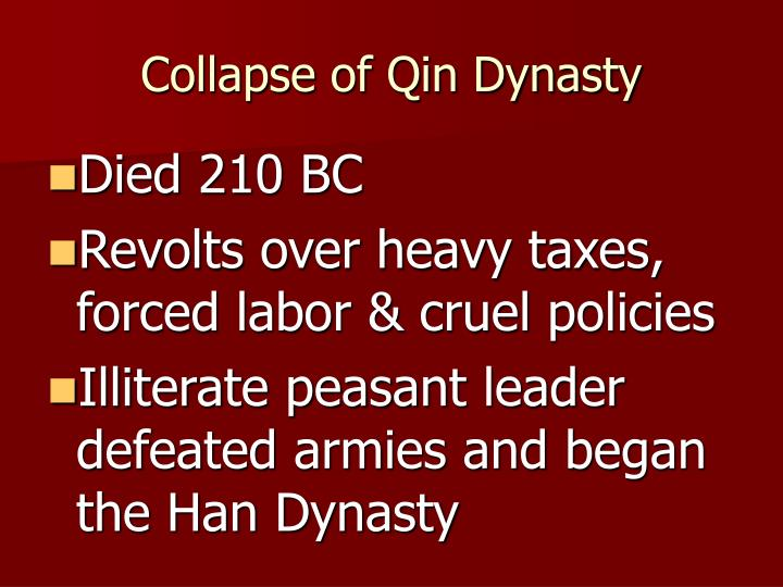 Collapse of Qin Dynasty