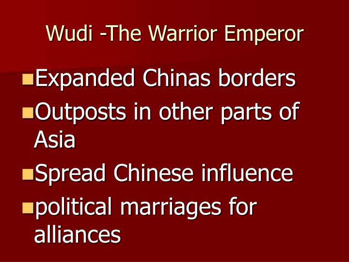 Wudi -The Warrior Emperor
