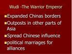 wudi the warrior emperor