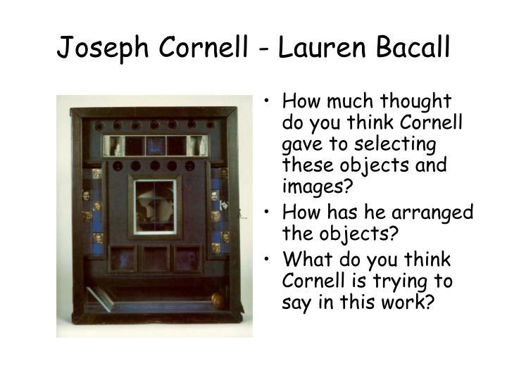Joseph Cornell - Lauren Bacall