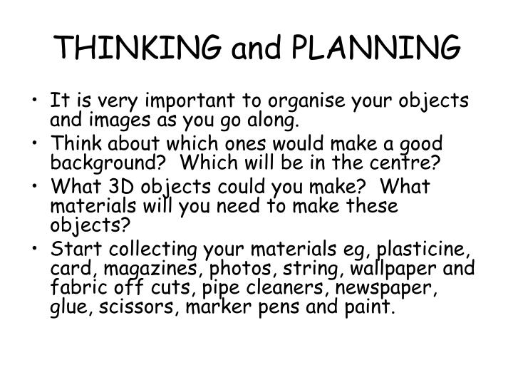 THINKING and PLANNING