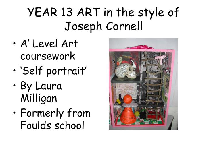 YEAR 13 ART in the style of Joseph Cornell
