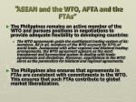 asean and the wto afta and the ftas3
