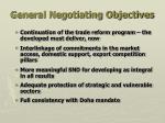 general negotiating objectives