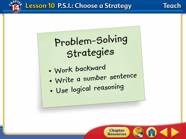 Lesson 10—Teach