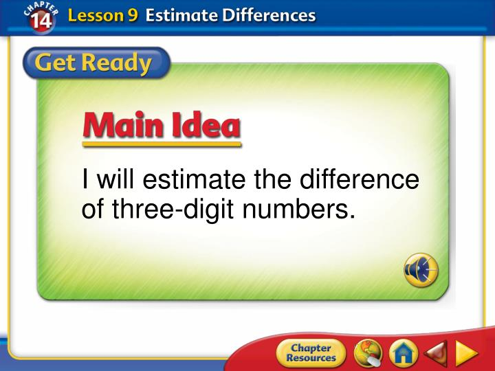 I will estimate the difference of three-digit numbers.