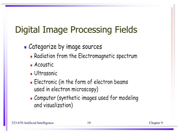 Digital Image Processing Fields