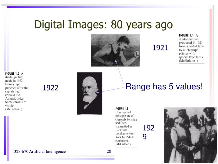 Digital Images: 80 years ago