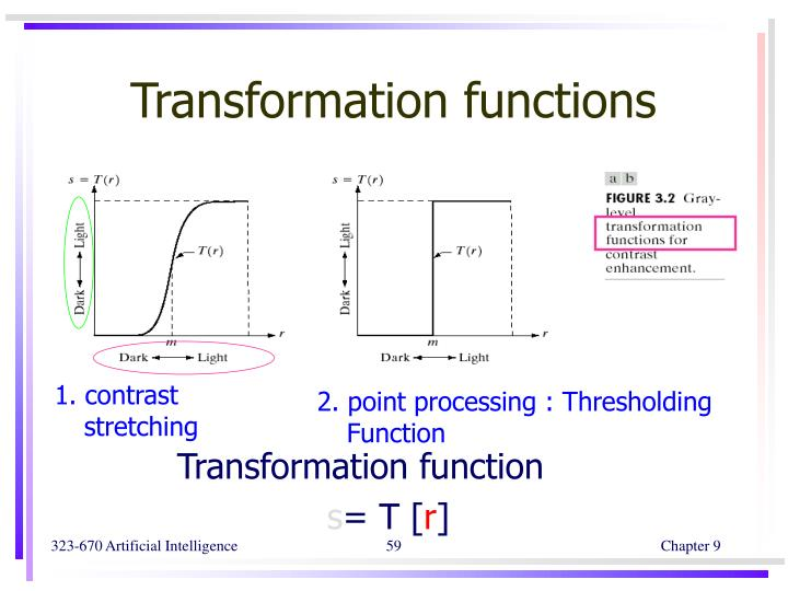 Transformation functions
