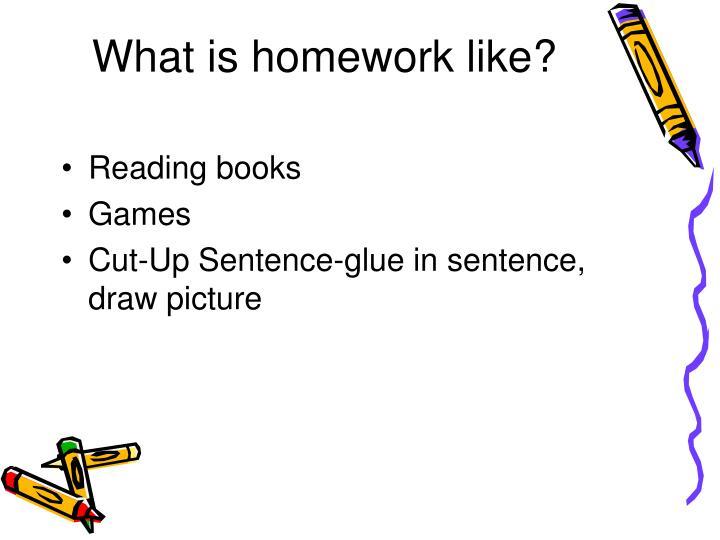 What is homework like?