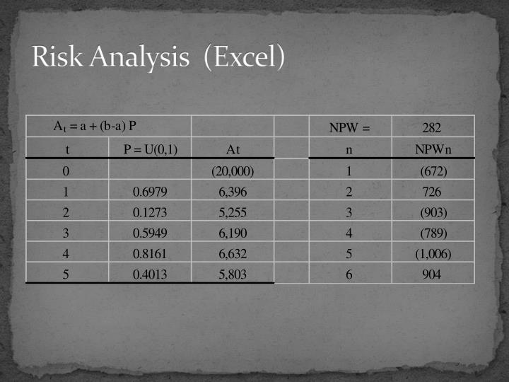 Risk Analysis  (Excel)