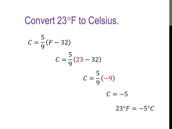 Convert 23