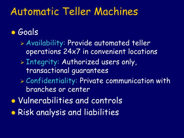 Automatic Teller Machines