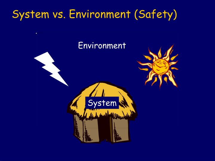 System vs. Environment (Safety)
