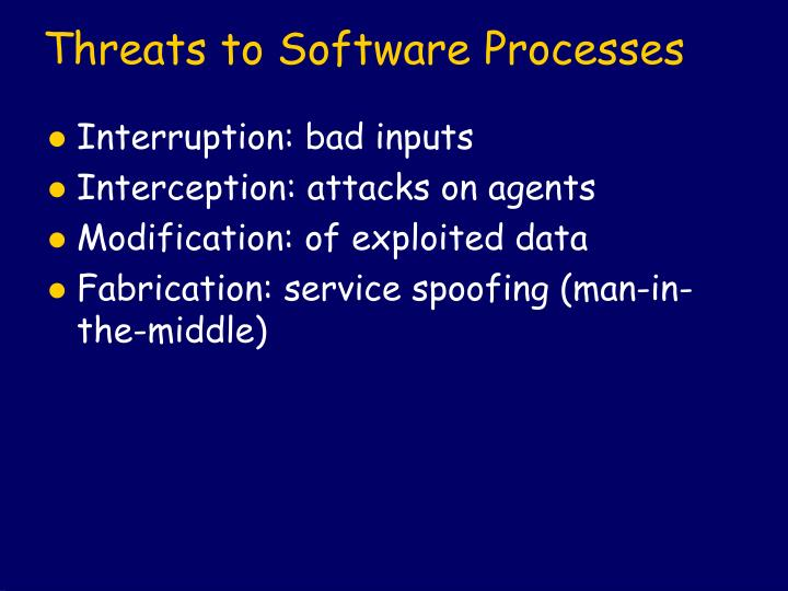 Threats to Software Processes