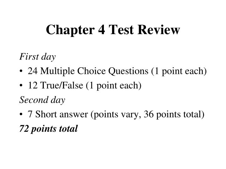 chapter 4 test