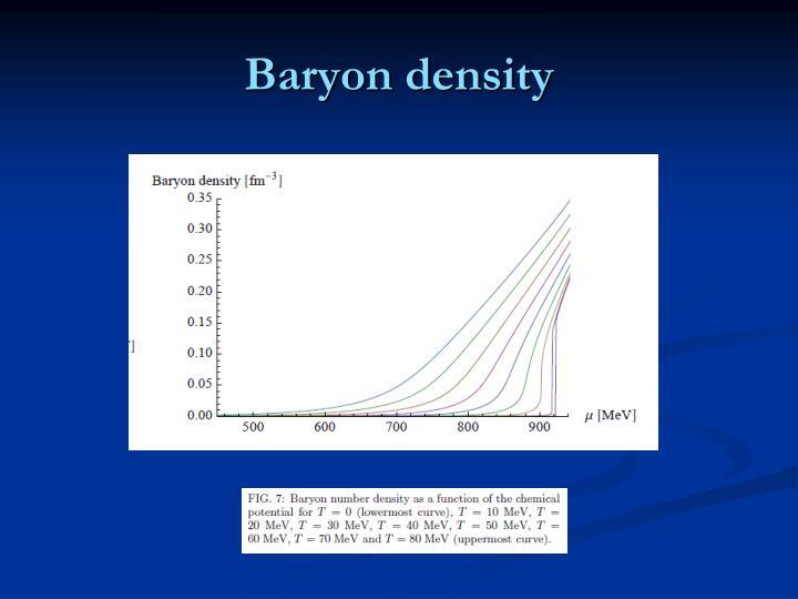 Baryon density